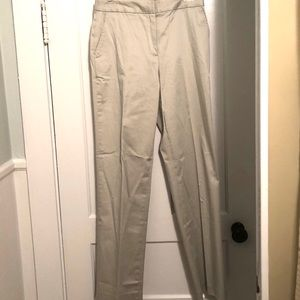 Pants - NWOT Statements Sateen Cotton Cream Trousers